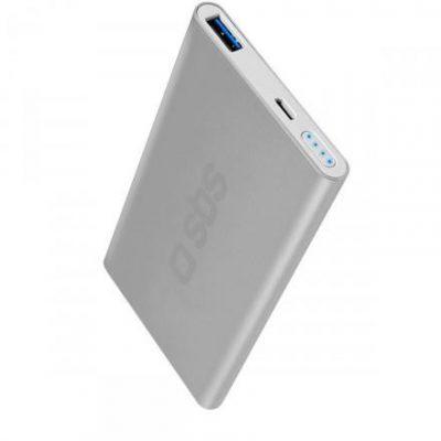 SBS 5000 mAh USB 2.1A Silver