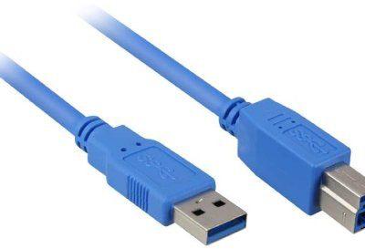 Sharkoon transferu danych z USB 3.0kabel, wtyczka A na wtyk B, maks. do 5GBIT/s. Dzięki temu Mac Pro nigdy nie każe Niebieski, niebieski 1 M