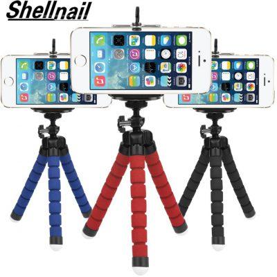 SHELLNAIL uchwyt na telefon Mini elastyczny gąbka statyw octopus Smartphone stojak trójnóg aparat