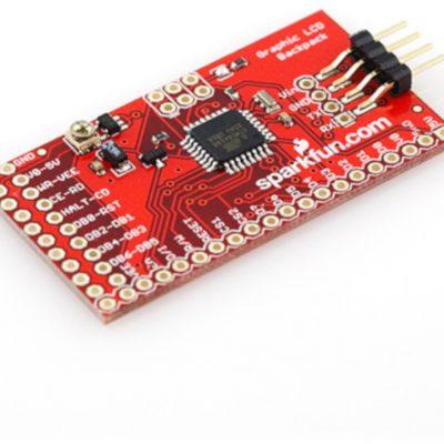 SparkFun SparkFun Graphic LCD Serial Backpack - sterownik do wyświetlaczy graficznych SPF-11166