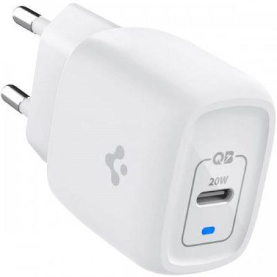 Spigen Ładowarka sieciowa PowerArc ArcStation Pro GaN PE2009EU 20W, USB-C, biała 8809710759497