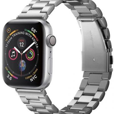 Spigen Pasek Band Modern Fit Apple Watch 44 S4 / 42mm S1-3, srebrny 8809613768831