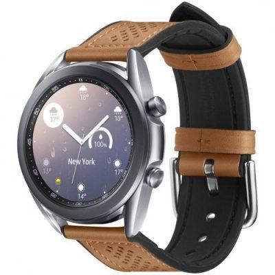 Spigen Pasek Band Retro Fit Galaxy Watch 3 41mm / GW 42mm, brązowy 8809685625582