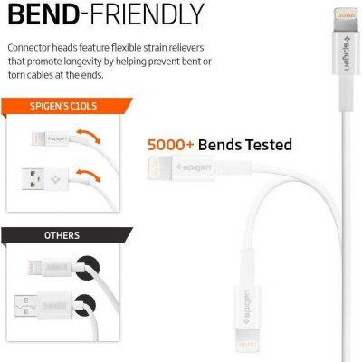 SPIGEN SPIGEN Kabel USB MFI LIGHTNING 1m biały 13056