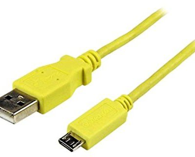 StarTech Startech 1m USB zapewnia czas pracy do Slim Micro USB Mobile kabla ładującego-synchronizującego smartfonów/tabletów, żółty