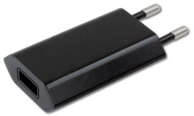 Techly Ładowarka sieciowa USB 5V 1A czarna