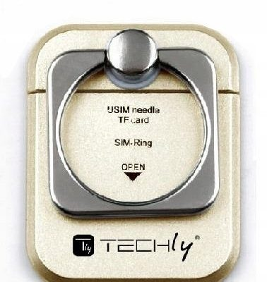 Techly Uchwyt do smartphone Ring Holder Gold I-sma