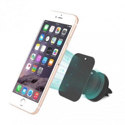 Techly Uchwyt samochodowy magnetyczny na telefon kratki czarny 022298