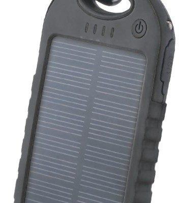 TelForceOne Power bank solarny Setty 5000 mAh czarny GSM036554