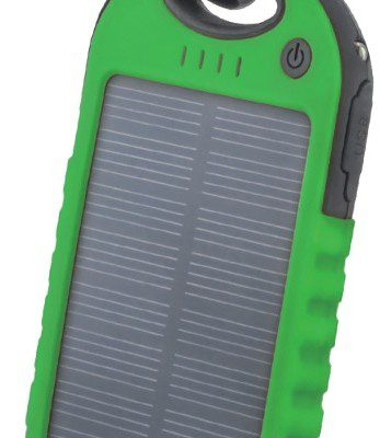 TelForceOne Power bank solarny Setty 5000 mAh zielony GSM036556