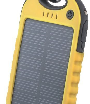 TelForceOne Power bank solarny Setty 5000 mAh żółty GSM036557