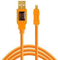 Tether Tools Kabel USB tetherpro USB 2.0A/mini-B 8-biegunowy 15'ORG [TET-cu8015-ORG] 0818307013544