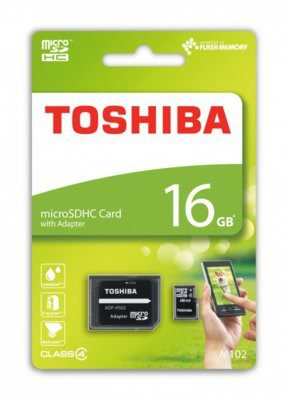 Toshiba microSDHC Class 4 16GB + adapter (THN-M102K0160M2)