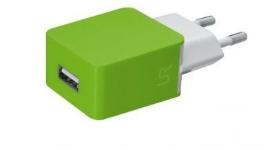 Trust UrbanRevolt 5W Wall Charger - lime green 20146