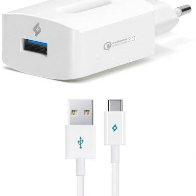 TTec Ładowarka Sieciowa SpeedCharger 3.0 + kabel USB-C