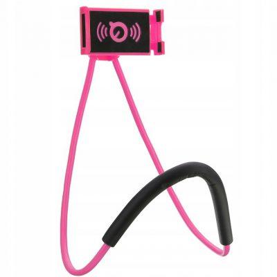 Uchwyt Na Telefon Holder Na Szyję Selfie Różowy