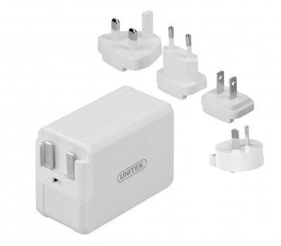Unitek Adapter podróżny QC 3.0 ES/UK/EU/AU