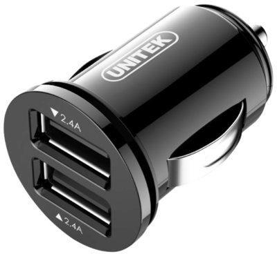 Unitek Ładowarka samochodowa tablet/smartfon 2x USB 2,4A; 24W; Y-P540 Y-P540 [8033204]