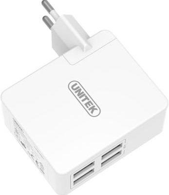 Unitek Ładowarka Y-PW10001 zasilacz sieciowy 4x USB EU/US/UK/AU