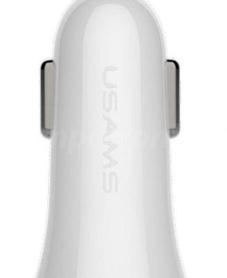 Usams USAMS Car Charger 1x USB 1.2A Trumpet biały (CC36GC02)