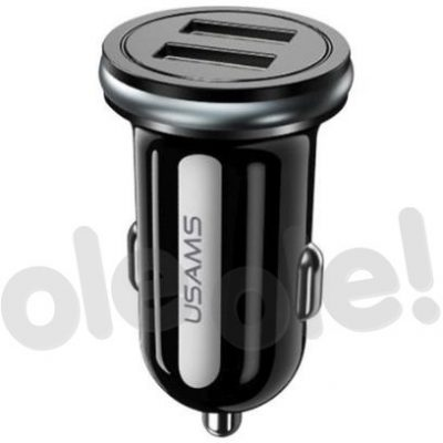 Usams USAMS Car Charger 2x USB 2.4A czarny CC50GC01