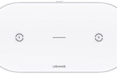 USAMS USAMS Ładowarka indukcyjna 10W Dual Biała CD120JN01