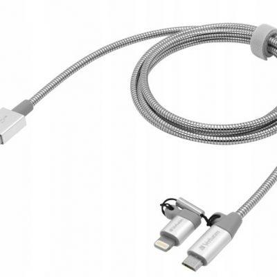 Verbatim Kabel Lightning Micro Usb 1metr Dane