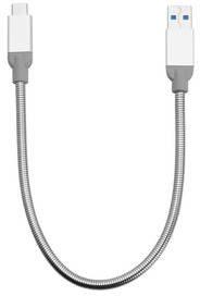 Verbatim Kabel USB-C M USB-A M 3.1 Gen 2 0.3m srebrny KKVMKKBU0080