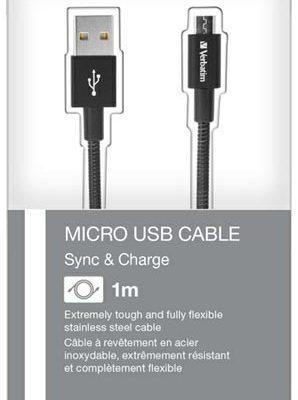 Verbatim Kabel USB USB A ></noscript> Micro USB M/M czarny 1m 48863 48863