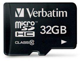 Verbatim MicroSDHC Class 10 32GB (44013)