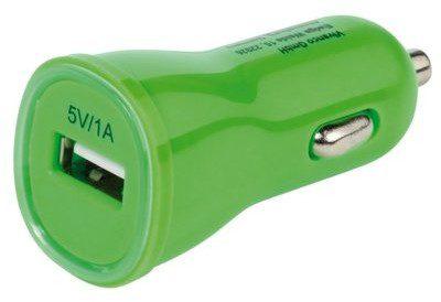 VIVANCO Ładowarka samochodowa 1xUSB 1A Zielony Rozłóż zakup na 10 rat 1xUSB 1A Zielony