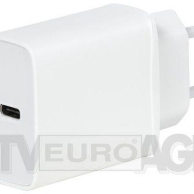 Vivanco Super Fast 18W PD 3,0 biały + kabel USB-C 60811