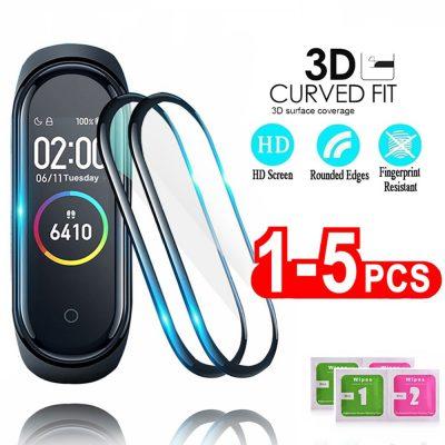 VKUES Szkło ochronne 3D dla Xiaomi mi band 4 5 folia szklana dla Mi band5 Smart Watchband 4 5 miękka folia