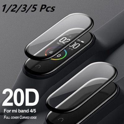 VKUES Szkło ochronne 3D dla Xiaomi mi band 4 5 folia szklana dla Mi band5 Smart Watchband 5 miękka folia