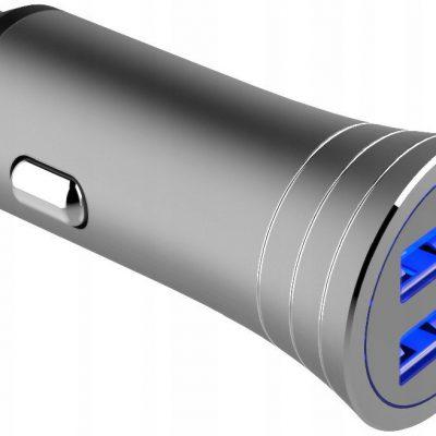 WG Ładowarka samochodowa 2xUSB/3,1A + kabel