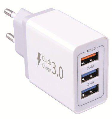 WG Ładowarka sieciowa 3xUSB 7.8A Biały 3-port USB Fast Travel Charger