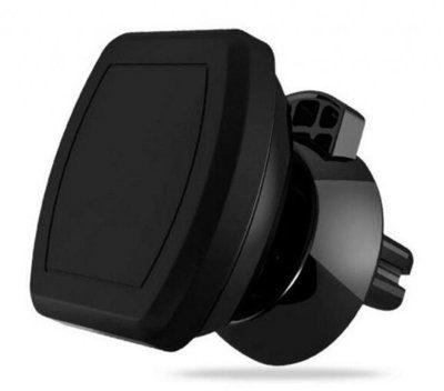 WG Uchwyt samochodowy Ventilation Kwadrat Big Blister + magnes Czarny WINHOLMAGVEN2