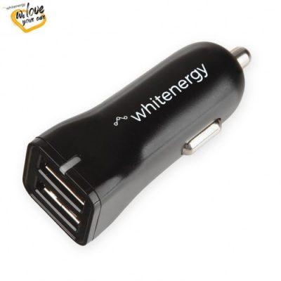 Whienergy Uniwersalna ładowarka samochodowa 12-24V z wyj. 2xUSB 5V/2.4A 10423 [8466554]