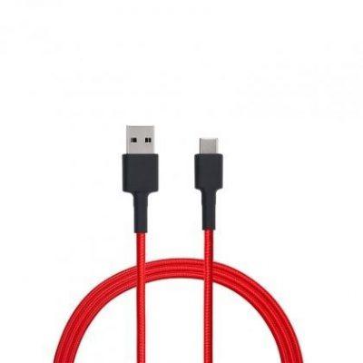 Xiaomi Mi Braided USB Type-C Cable Czerwony   Kabel USB   100cm, SJV4110GL USB TYPE-C CABLE 100CM (RED)