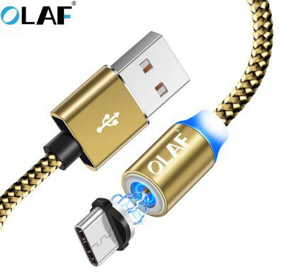 Xiaomi OLAF OLAF LED Micro USB Fast Charge For For Samsung Mobile Phone Magnetic Charger Cord