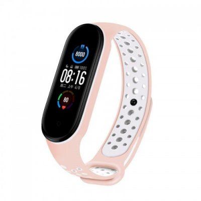 Xiaomi Opaska Xiaomi Mi Band 5 Dots różowo-biały wristband_20210401143403