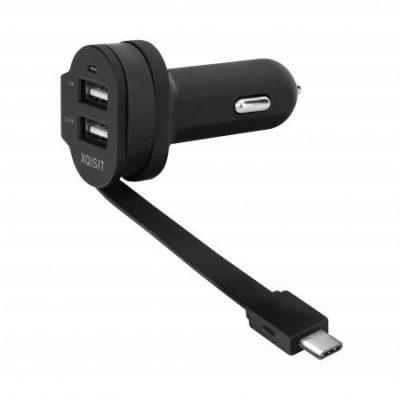 Xqisit 6A USB-C/2xUSBCZARNA