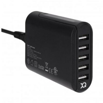 Xqisit 8A 5x USB czarna 29977