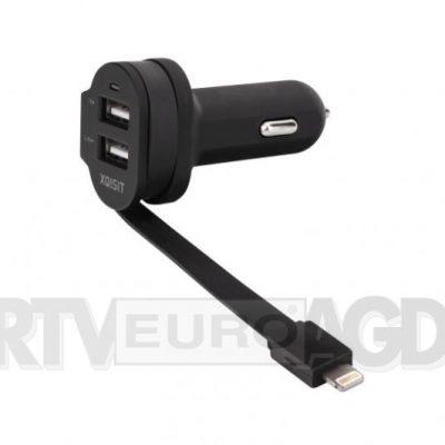 Xqisit Car Charger 6A Dual USB+Lightning czarny 20426