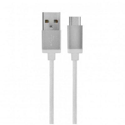 Xqisit Kabel Sznurkowy antysplątaniowy USB-C Typu C 180cm BIAŁY TWORZYWO SZTUCZNE 40661