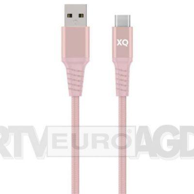 Xqisit kabel USB-C USB-A 2m różowy
