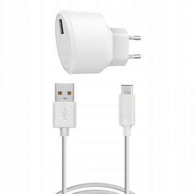 Xqisit Ład. sieciowa Usb kabel Usb-c 2.4A biała