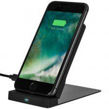 Xqisit Ładowarka indukcyjna Wireless Fast Charger Stand 10W, czarna 4029948077512