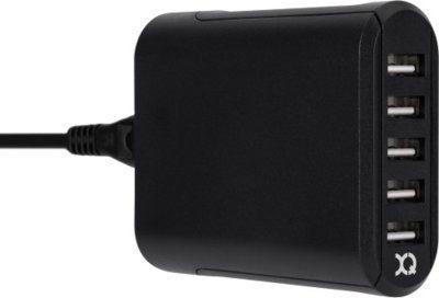 Xqisit Ładowarka sieciowa Travel Charger 5 x USB/8A Czarny