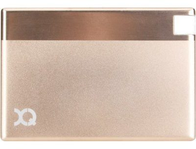 XQISIT PowerBank PB 1350 mAh Ultra Slim microUSB Złoty